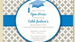 Free Printable Graduation Open House Invitations Graduation Invitation Open House Invitation by Mommiesink