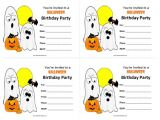 Free Printable Halloween Birthday Party Invitations Templates Halloween Birthday Invitations Free Printable