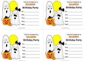 Free Printable Halloween Birthday Party Invitations Templates Halloween Birthday Invitations Free Printable
