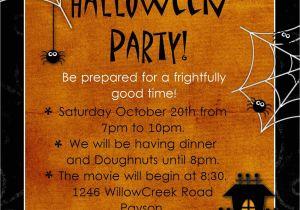 Free Printable Halloween Birthday Party Invitations Templates Halloween Party Invitation Wording