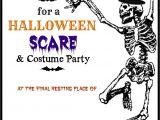 Free Printable Halloween Party Invitations Halloween Printable Skeleton Invite Diy Halloween