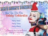 Free Printable Harley Quinn Birthday Invitations Harley Quinn Holiday Party Invitation by Melissanaomidesigns