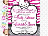 Free Printable Hello Kitty Baby Shower Invitations Hello Kitty Baby Shower Invitation Charite S Baby Shower