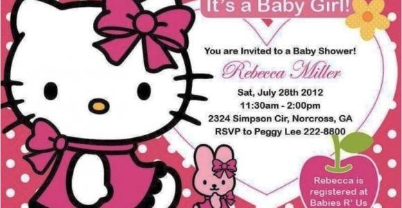 Free Printable Hello Kitty Baby Shower Invitations Hello Kitty Baby Shower Invitations and Decorations