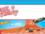 Free Printable Hot Wheels Birthday Party Invitations Free Printable Hot Wheels Invitation Templates for Download