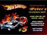 Free Printable Hot Wheels Birthday Party Invitations Hot Wheels Invitations