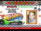 Free Printable Hot Wheels Birthday Party Invitations Hot Wheels Racing Custom Printable Birthday Party