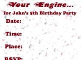 Free Printable Hot Wheels Birthday Party Invitations Invitations