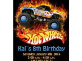 Free Printable Hot Wheels Party Invitations Hot Wheels Birthday Party Invitations Drevio Invitations