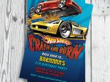 Free Printable Hot Wheels Party Invitations Unavailable Listing On Etsy