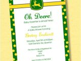 Free Printable John Deere Baby Shower Invitations Invite Simple John Deere Country Baby Shower