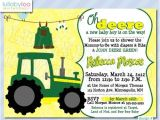 Free Printable John Deere Baby Shower Invitations Tractor Baby Shower Invitations 474