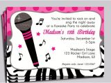 Free Printable Karaoke Party Invitations Hot Pink Zebra Invitation Printable or Printed with Free
