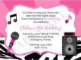 Free Printable Karaoke Party Invitations Karaoke Party Birthday Invitation Diy Print Your Own