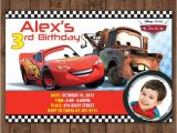 Free Printable Lightning Mcqueen Birthday Party Invitations Personalized Disney Cars Lightning Mcqueen tow Mater Diy