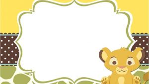 Free Printable Lion King Baby Shower Invitations 9 Free Lion King Baby Shower Invitations