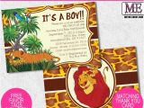 Free Printable Lion King Baby Shower Invitations Lion King Baby Shower Invitations by Metro Designs Graphic