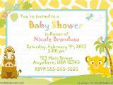 Free Printable Lion King Baby Shower Invitations Lion King Baby Shower Invitations Ideas