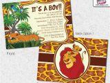 Free Printable Lion King Baby Shower Invitations Lion King Baby Shower Invitations Lion King Invitation