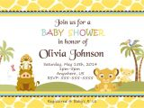 Free Printable Lion King Baby Shower Invitations Simba Lion King Shower Invitations Baby Shower Custom