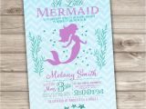 Free Printable Mermaid Baby Shower Invitations 50 Printed Mermaid Baby Shower Invitations Chevronlittle