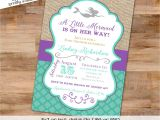 Free Printable Mermaid Baby Shower Invitations Mermaid Baby Shower Invitation Bridal Shower Under the Sea