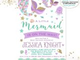 Free Printable Mermaid Baby Shower Invitations Mermaid Baby Shower Invitation Little Mermaid Baby Shower