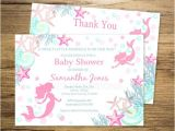 Free Printable Mermaid Baby Shower Invitations Mermaid Baby Shower Invitation Printable Mermaid Under