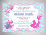 Free Printable Mermaid Baby Shower Invitations Mermaid Girl Baby Shower Invitation Printable Little