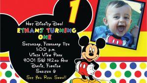 Free Printable Mickey Mouse 1st Birthday Invitations Free Printable 1st Mickey Mouse Birthday Invitations