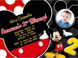 Free Printable Mickey Mouse 1st Birthday Invitations Mickey Mouse 1st Birthday Invitations Ideas – Bagvania