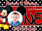 Free Printable Mickey Mouse 1st Birthday Invitations Mickey Mouse 1st Birthday Invitations