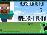 Free Printable Minecraft Birthday Party Invitations Templates 9 Best Images Of Free Printable Minecraft Invitations
