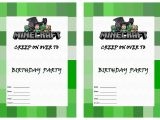 Free Printable Minecraft Birthday Party Invitations Templates Free Printable Minecraft Birthday Invitations Free