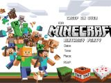 Free Printable Minecraft Birthday Party Invitations Templates Minecraft Birthday Invitations Minecraft Birthday