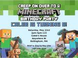 Free Printable Minecraft Birthday Party Invitations Templates Minecraft Birthday Party Invitations Kids Birthday