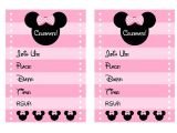 Free Printable Minnie Mouse First Birthday Invitations Free Pink Minnie Mouse Birthday Party Printables Catch