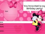 Free Printable Minnie Mouse First Birthday Invitations Minnie Mouse Printable Party Invitation Template