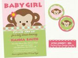 Free Printable Monkey Girl Baby Shower Invitations 301 Moved Permanently