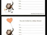 Free Printable Monkey Girl Baby Shower Invitations 5 Free Printable Monkey Baby Shower Invitations