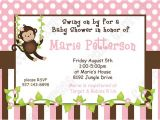 Free Printable Monkey Girl Baby Shower Invitations Diy Monkey Baby Girl Baby Shower Printable Invitation 5×7