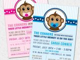 Free Printable Monkey Girl Baby Shower Invitations Free Printable Monkey Baby Shower Invitations