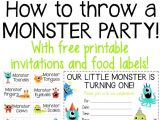 Free Printable Monster Birthday Invitations How to Throw A Monster Party Free Printable Invites and