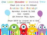 Free Printable Monster Birthday Invitations Little Monster Birthday Invitation Printable File On Luulla