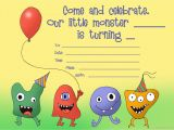 Free Printable Monster Birthday Invitations Little Monsters Birthday Invitation Template