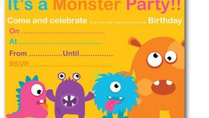 Free Printable Monster Birthday Invitations Monster Birthday Party Invitations Ideas – Bagvania Free