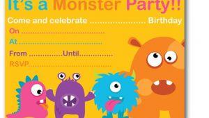 Free Printable Monster Birthday Invitations Monster Birthday Party Invitations Ideas – Bagvania Free