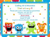 Free Printable Monster Birthday Invitations Monster Birthday Party Invitations Ideas