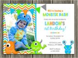 Free Printable Monster Birthday Invitations Printable Boy Monster Birthday Invitation Boy
