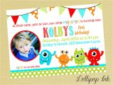 Free Printable Monster Birthday Invitations the Monster Birthday Invitations Printable